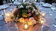 #Centro de mesa elegante  #mezcla de frutas y flores # Velas