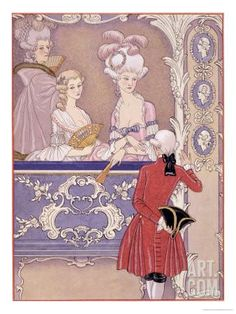 Women in a Theater Box, Illustration from Les Liaisons Dangereuses by Pierre Choderlos de Laclos Giclee Print by Georges Barbier at Art.com