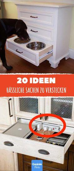 Pack Futter Und Wasser Für Deinen Hund In Eine Schublade, So Kannst Du Das  Ganze