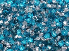 TRUE2™ 2mm Faceted Fire Polished Rounds Aqua Labrador from Nosek's Just Gems