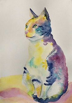 Mindful Cat Watercolor Cat, Watercolour Painting, Image Shows, Original Artwork, How Are You Feeling, Mindfulness, Colours, Cats, Beautiful