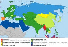 General naming formats/customs in Europe, Asia and Africa