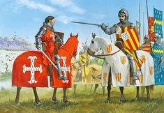 """""""Anthony Bek, Bishop of Durham, at the Battle of Falkirk, 22 July 1298"""""""