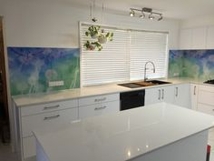 Printed glass installations
