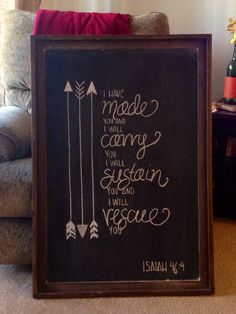Create a personalized chalkboard design of your favorite Bible verse!
