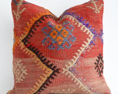 Sukan Sukanart Kilim Pillow Cover Decorative Kilim Pillows Tribal Pillow Case Organic Pillow Throw Pillows Sofa Couch Pillows Cushion Covers