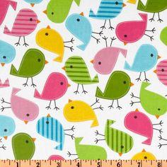 Urban birds WIDE laminated cotton fabric (aka slicker, oilcloth, coated) BPA free. $16,98, via Etsy.