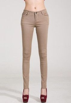 Super Deal 2016 Fashion Women Candy Colors Pencil Skinny Pants Spring Autumn Sexy Fit Jeans Plus Size Casual Trousers