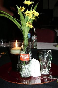 coke vintage WWII style centerpiece for wedding