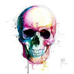 Water color skull