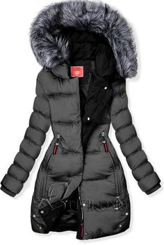 Sivo-čierna prešívaná bunda Winter Jackets, Coats, Fashion, Conceptual Fashion, Winter Coats, Moda, Wraps, Winter Vest Outfits, Fashion Styles