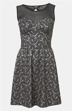Can I wear this to an event at work?  Topshop Paisley Lace Dress available at #Nordstrom