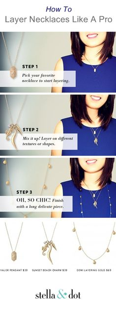 How to get the effortless, layered necklace look for Spring.