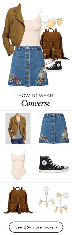 """Untitled #6849"" by ashley-r0se-xo on Polyvore featuring Yves Saint Laurent, Miss Selfridge, Burberry, Converse, Armenta and Majorica"