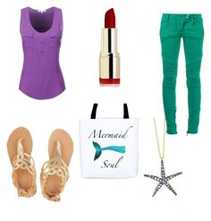"""""""Ariel inspired outfit"""" by shobes on Polyvore"""