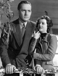 "Fredric March with Janet Gaynor in ""A Star Is Born"" 1937  Vintage Style. Classic Hollywood Stars."