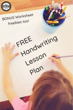 Handwriting Lesson Plan and Free Sample Handwriting Worksheets - Your Therapy Source Free Handwriting Worksheets, Teaching Handwriting, Handwriting Activities, Improve Handwriting, Free Lesson Plans, Lesson Plan Templates, Pediatric Occupational Therapy, Multi Sensory, Letter To Parents