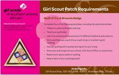 Quilt It ~ GS Southern Arizona Sahuaro http://www.girlscoutssoaz.org/resources/girls/