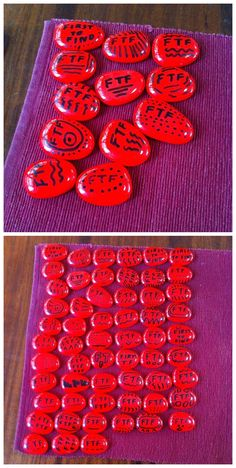 Original Uploader: Just finished my First To Find Prizes of red pebbles stones that I bought a 1kg bag from my local hardware store! These will go into my new caches that I'll be hiding soon including a new one this weekend!! #geocaching