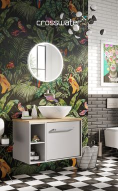 Be bold, be brave. Take a leap of faith when it comes to creating your bathroom scheme, you'll be surprised at the outcome! Bathroom Furniture, Bathroom Interior, Bathroom Trends, Bathroom Ideas, Bathroom Showrooms, Downstairs Bathroom, Contemporary Bathrooms, Bathroom Colors, Bathroom Inspiration
