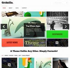 Gridzilla Blog Portfolio Web Design Free PSD Template