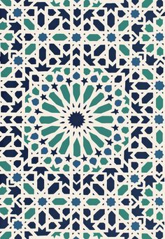 5005962 Schumacher Wallpaper pattern name Nasrid Palace Mosaic. Mahones Wallpaper Shop only sells quality no second hand materials with full manufacturer guarantee. Geometric Patterns, Star Patterns, Tile Patterns, Geometric Art, Pattern Art, Textures Patterns, Islamic Art Pattern, Arabic Pattern, Mosaic Wallpaper