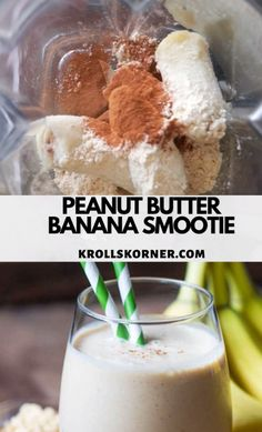 This Peanut Butter Banana Smoothie is nutritious and is perfect for an afternoon snack or for breakfast on the go smoothie healthysmoothie peanutbutter peanutbuttersmoothie breakfast healthysnacks Apple Smoothies, Breakfast Smoothies, Healthy Smoothies, Smoothie Recipes, Nutritious Breakfast, Peanut Butter Smoothie, Peanut Butter Banana, Smoothie Bowl, Avacado Smoothie