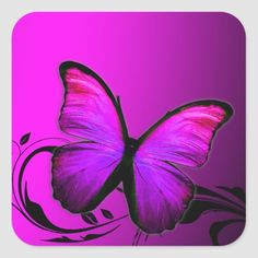Shop 311 Lustrous Butterfly Pink Purple Square Sticker created by Personalize it with photos & text or purchase as is! Purple Wallpaper Iphone, Iphone Wallpaper Tumblr Aesthetic, Retro Wallpaper, Butterfly Wallpaper, Aesthetic Wallpapers, Dark Purple Aesthetic, Lavender Aesthetic, Purple Rooms, Purple Walls