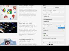 Como criar um blog- Criação da conta Google e criação do blog