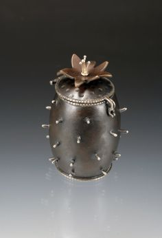 Cactus Seed Box by metals artist amanda Outcalt in copper and sterling silver. see more ...  http://crafthaus.ning.com/photo/albums/metalwork-1