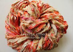 Sari Silk Pumpkin Pink Splatter Fair Trade 5 by ArtwearElements