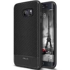 Obliq, Galaxy Edge Case [Flex Pro][Carbon] Premium Leather Slim Fit Form Fitting Snug Fit Scratch Resistant Modern Cover for Samsung Galaxy Edge, Black Samsung Galaxy S, Galaxy S7, S7 Edge, Protective Cases, Carbon Fiber, Cell Phone Accessories, Cover, Pu Leather, Phones