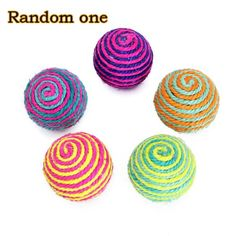 TOOGOOR 1 x Pet Dog Cat Sisal Rope Ball Rattle Scratcher Toy Ball * Want to know more, click on the image.