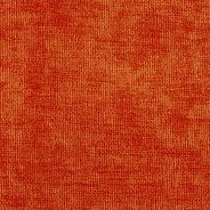 Solid Orange or Persimmon Velvet Upholstery Fabric