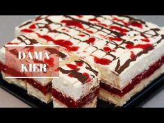Dama Kier - To będzie hit nadchodzącego lata! | Ciasto bez pieczenia - YouTube Rhubarb Recipes, Polish Recipes, No Bake Desserts, Tiramisu, Cookie Recipes, Cheesecake, Sweets, Cookies, Baking