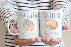 Abuela gift, Abuelo gift, Abuelita gift, or Abuelito gift, Spanish pregnancy announcement, Pregnancy announcement en Español