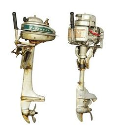 Lot Of 2: Evinrude And Johnson Outboard Boat Motors.