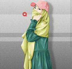 Hijabi Girl, Girl Hijab, Muslim Girls, Muslim Women, Cartoon Sketches, Cartoon Art, Crown Illustration, Anime Art Girl, Anime Girls