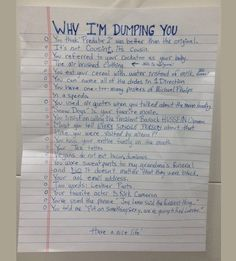 Don't know how to dump your douche bag boyfriend? Here's an idea (: