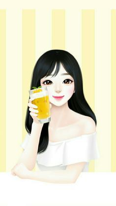 Image in Lovely Girl💋 collection by ChiangWaiFun Sweet Drawings, Girly Drawings, Girl Face Drawing, Cute Girl Drawing, Cartoon Girl Images, Cute Cartoon Girl, Female Cartoon, Pretty Anime Girl, Anime Art Girl