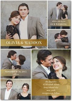 For a photograph wedding invitation, we love this multi-photo option, which blends a traditional template with a modern twist.