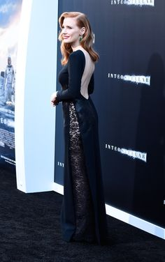 """Jessica Chastain attends the premiere of Paramount Pictures' """"Interstellar"""" at TCL Chinese Theatre IMAX on October 26, 2014 in Hollywood, California."""