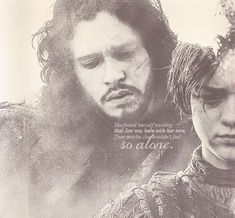 Arya Stark and Jon Snow ~ Game of Thrones
