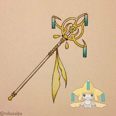 Pokeapon No. 385 - Jirachi. #pokemon #jirachi #staff #pokeapon