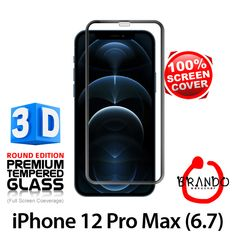 Brando Workshop Full Screen Coverage Curved 3D Glass Protector (iPhone 12 Pro Max (6.7)) - Black Phone Screen Protector, Glass Protector, Usb Gadgets, Workshop, 3d, Iphone, Black, Atelier, Black People