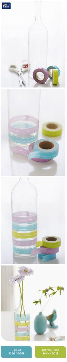 Menghias Botol Bekas Menjadi Vas Bunga