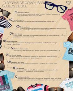 10 regras de como usar óculos de sol