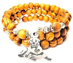 Sitting Rottweiler Wrap Around Wood Bracelet *** Check out this great product.