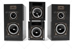 Speakers  #GraphicRiver         3d illustration of a speakers on a white background   JPEG 5000×3759     Created: 18November13 GraphicsFilesIncluded: JPGImage HighResolution: No Layered: No MinimumAdobeCSVersion: CS PixelDimensions: 5000x3759 PrintDimensions: 76x53 Tags: 3d #box #club #device #disco #dj #illustration #loudly #metal #music #party #plastic #sound #speaker #speed #subwoofer