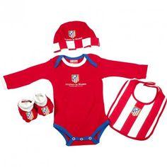Cesta Atlético de Madrid 3 - canastilla para bebé de tu equipo de fútbol preferido, una amplia gama de productos y ropa de bebé con licencia oficial del Atlético de Madrid - Envíos a Toda España